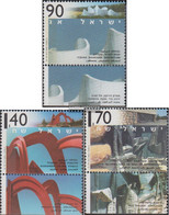 Israel 1321-1323 With Tab (complete Issue) Unmounted Mint / Never Hinged 1995 Monumentalskulpturen - Israel