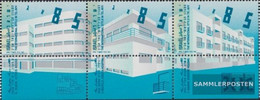 Israel 1295-1297 Triple Strip With Tab (complete Issue) Unmounted Mint / Never Hinged 1994 Architecture - Israel