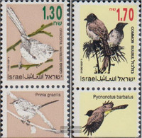 Israel 1280-1281 With Tab (complete Issue) Unmounted Mint / Never Hinged 1993 Songbirds - Israel
