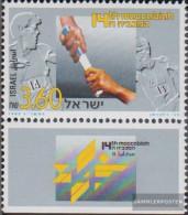Israel 1270 With Tab (complete Issue) Unmounted Mint / Never Hinged 1993 Makkabiade - Israel
