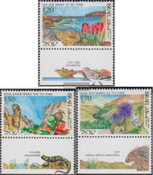 Israel 1252-1254 With Tab (complete Issue) Unmounted Mint / Never Hinged 1993 Naturreservate In Israel - Israel