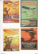 Au Plus Rapide Pochette Complète 6 Cartes Postales Meeting Aviation Doncaster Paris Bruxelles Berlin ... - Meetings
