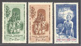 Inde: Yvert N° A 7/9**; MNH; Cote 3.60€ - India (1892-1954)