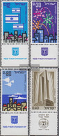 Israel 356-358,359 With Tab (complete Issue) Unmounted Mint / Never Hinged 1966 Independence, Commemoration - Nuevos (con Tab)