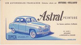BUVARD - Peinture ASTRAL - Automobile Simca  4 Places - Paints