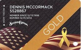 Station Casinos - Las Vegas, NV - Gold Veterans Slot Card - Casino Cards