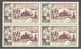 Inde: Yvert N° A 22**; MNH; Bloc De 4; Cote 45.60€ - India (1892-1954)