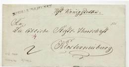 9615 01  AUSTRIA OSTERREICH Sieghartskirchen - YEAR 1834 - WITH TEXT - Autriche