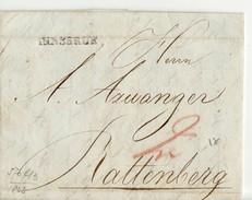 9635 01 AUSTRIA OSTERREICH  INNSBRUCK TO RATTENBERG -YEAR 1823 - WITH TEXT - Österreich