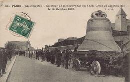 PARIS 18EME - Montage De La Savoyarde Au Sacré-Coeur De Montmartre - Paris (18)