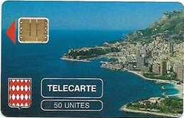 @+ Monaco - Rocher De Monaco En 50U - SC3 (serie 107639) - Ref : MF2 - Monaco