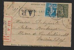 ALGERIE - Carte Lettre Recommandée  De HUSSEIN DEY - Lettres & Documents