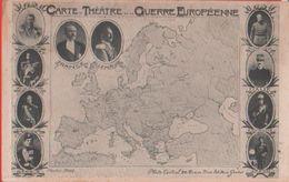 Carte Du Théâtre De La Guerre Européenne. Non Viaggiata - Guerra 1914-18