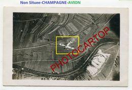 AVION En VOL-Champagne-NON SITUEE-CARTE PHOTO Aerienne Allemande-Guerre 14-18-1 WK-France-51-08- - War 1914-18