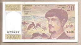 Francia - Banconota Non Circolata FdS Da 20 Franchi - 1993 - 20 F 1980-1997 ''Debussy''