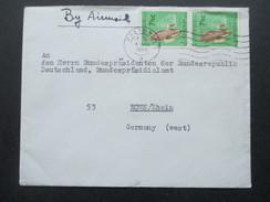 Südafrika 1965 Social Philately Brief An Den Präsidenten Der BRD Heinrich Lübke! Pretoria - Bonn - Afrique Du Sud (1961-...)