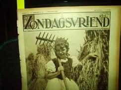 """-**ZONDAGSVRIEND  -**n°33-12/8/1937-""""EINE ,O.VL(2 Blz.)+achtercover= Kerk Van EINE - Magazines & Newspapers"""