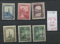 Expres  Série De 6 Valeurs ** 292 C/G + H  Cote 210 E - Belgium