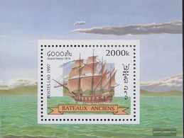 Laos Block164 (complete Issue) Unmounted Mint / Never Hinged 1997 Sailboats - Laos