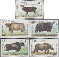 Laos 1227-1231 (complete Issue) Unmounted Mint / Never Hinged 1990 Animals: Pflanzenfresser - Laos