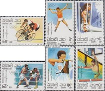 Laos 1155-1160 (complete Issue) Unmounted Mint / Never Hinged 1989 Olympics Summer 1992, Barcelona - Laos