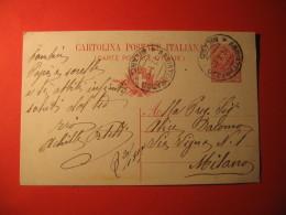 Italia Cartolina Postale 10 Centesimi ANNULLO  ABBIATEGRASSO  MILANO    274 - Italia