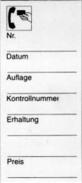 KOBRA-Beschriftungskärtchen Nr. G14Z - Phonecards