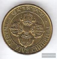 Bhutan 47a 1979 Stgl./unzirkuliert Steel, Alu-Bronze Plattiert Stgl./unzirkuliert 1979 25 Chhertum Fish - Bhoutan