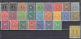 AAS - DEUTSCHLAND - ALLEMAGNE - GERMANIA - 1946 - Lotto Di 26 Valori Nuovi MNH Yvert 1/27 Tranne Il 20. - Gemeinschaftsausgaben