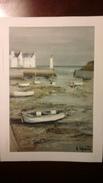 Cartolina Peintres De La Bretagne - Toile De Georges LAPORTE - Le Port De Sauzon - Peintures & Tableaux