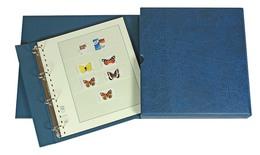 Lindner 1100-B Stamp Album ECO, Blue - Stockbooks