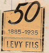 Facture 1935 / Manufacture Articles Eclairage / LEVY HAUSER / Vignette Cinquantenaire/ 68 Saint Louis / Haut Rhin - Autres