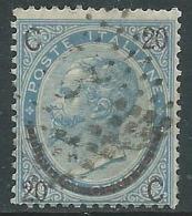 1865 REGNO USATO SOPRASTAMPATO 20 SU 15 CENT III TIPO - S25-21 - 1861-78 Vittorio Emanuele II