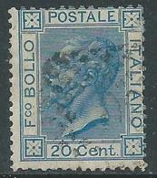 1867 REGNO USATO EFFIGIE 20 CENT TIRATURA TORINO - S26-21 - 1861-78 Vittorio Emanuele II