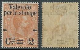 1890 REGNO VALEVOLE PER LE STAMPE 2 CENT SU 1,25 LIRE MNH ** - E112 - 1878-00 Umberto I