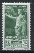 AFRIQUE ORIENTALE ITALIENNE- Y&T N°25- Neuf Avec Charnière * - Afrique Orientale Italienne