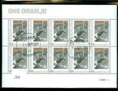 NEDERLAND * ONS ORANJE  *  BLOK BLOC * BLOCK * GEBRUIKT *  POSTFRIS GESTEMPELD * (104) - Period 1980-... (Beatrix)