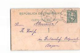 9778 01 POSTAL STATIONARY PARAGUAY VILLA RICA TO BAYERN - Paraguay