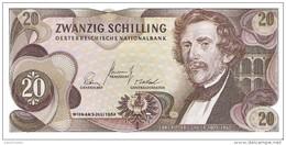 Austria - Pick 142 - 20 Schilling 1967 - AUnc - Austria