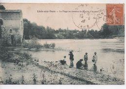 Cpa.81.Lisle Sur Tarn.1928.La Plage Au-dessous Du Moulin D'Arpaud - Lisle Sur Tarn