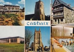CARHAIX MULTIVUES , LA PISCINE, L'EGLISE (dil128) - Carhaix-Plouguer