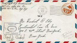 IIGM ENVELOPPE USA 6c APO N° 464 FOLLONICA ITALIE 16/8/1944 - Guerre Mondiale (Seconde)