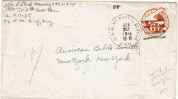 IIGM ENVELOPPE USA 6c APO N° 88 GORIZIA ITALIE 30/4/1946 - WW2