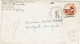 IIGM ENVELOPPE USA 6c APO N° 88 GORIZIA ITALIE 30/4/1946 - Guerre Mondiale (Seconde)
