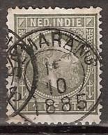 Ned Indie 1870 Koning Willem III. 1 Cent Type 2, NVPH 4E 13,5x13,25 Gestempeld. - Indes Néerlandaises