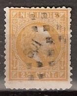Ned Indie 1870 Koning Willem III. 2,5 Cent. NVPH 7 Puntstempel 108 - Nederlands-Indië