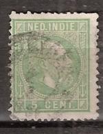 Ned Indie 1870 Koning Willem III. 5 Cent. NVPH 8. Zie Beschrijving - Nederlands-Indië