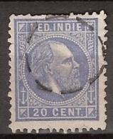 Ned Indie 1870 Koning Willem III. 20 Cent. NVPH 12 - Bijzonder Stempel - Special Cancellation! - Nederlands-Indië