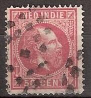 Ned Indie 1870 Koning Willem III. 50 Cent. NVPH 15B 14x14 Grote Gaten - Nederlands-Indië