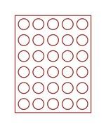 Lindner 2701E Velour Insert Dark Red, 2701E (Ø 36 Mm) - Zubehör